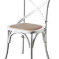 כסא דגם קרוס לבן