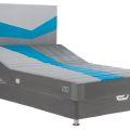 מיטה וחצי עמינח XL BED דגם מרתון כחול + ראש מיטה מרופד