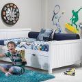 מיטת נוער ברוחב וחצי דגם שחר עם מגירות