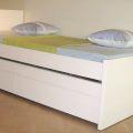 מיטת ילדים דגם לימור + מיטת חבר נגררת