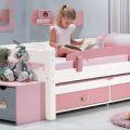 מיטת ילדים עצמלה דגם טורה מעץ אורן מלא + מיטה נגררת