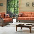 סלון דגם PS 8 הכולל ספה תלת מושבית וספה דו מושבית