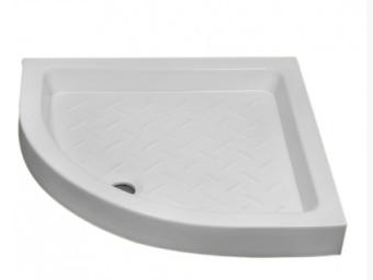 """אגנית חרס פינתית חצי-עגולה  ניתן להשיג במידות: 90/90 ס""""מ  צבע לבן"""