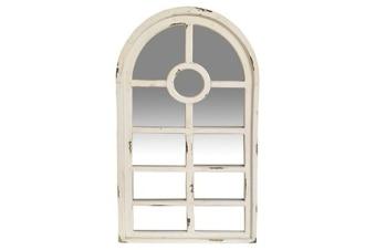 """מראה חלון   106/53 ס""""מ חום/לבן"""