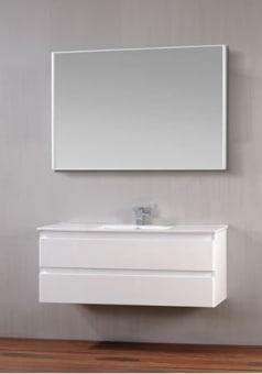 """שם הדגם מרין אפוקסי  Color  לבן מבריק,שחור מבריק ואפור מבריק  רוחב  46 ס""""מ  אורך  80 ס""""מ  גובה  52 ס""""מ  כולל מראה מרחפת קריסטלית  וכיור אינטגרלי לבן . קיים במידות 60/80/100"""