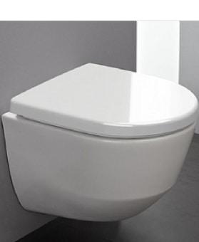 אסלה תלויה LAUFEN שוויץ דגם PRO RIMLESS  ללא תעלה כולל מושב  ללא חללים נסתרים והצתברות אבנית וחיידקים