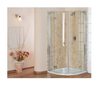 מקלחון פינתי מעוגל, זכוכית מחוסמת 6 מ''מ מקלחון המורכב משתי דלתות מעוגלות נפתחות החוצה עם שתי דלתות מתקפלות פנימה ניצול מקסימלי עם 100%פתיחה. דלתות עם צירי Elegant בשילוב דלתות עם פרופיל ציר Mitrani, מוט מסילה Hadar לייצוב הדלתות, כולל מעצורי פתיחה סגירה. מקלחון בעל מגב אורך, מגב תחתון ומגנטים שקופים לאטימה מירבית.סף רצפה תואם למניעת יציאת מים. ידיות פטריה Elegant. גובה סטנדרטי 185 ס''מ, ניתן להזמין בגובה 200 ס''מ. גימורי הסדרה: זכוכית מידות הסדרה: 100X100, 110X110, 90X90