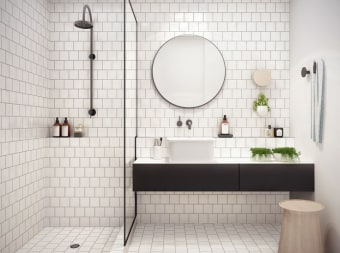 """מראה עגולה מרחפת לחדר האמבטיה 5 מ""""מ קוטר 40 ס""""מ תו תקן- כל המוצרים של המחלקה מיוצרים מזכוכית מחוסמת עם תו תקן 6, 8 ו 10- מ""""מ"""