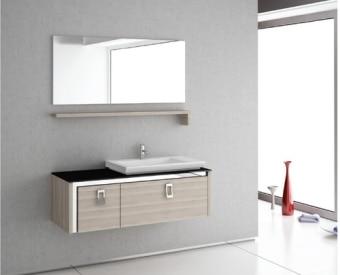 """ארון אמבטיה תלוי בעיצוב יוקרתי 120 ס""""מ 2 מגירות גדולות, טריקה שקטה. כולל כיור מונח (מיוצר באירופה) כולל מדף ומראה קריסטלית הארון עשוי M.D.F ירוק שעמיד במים ומצופה בפורמייקה 2 גוונים לבחירה."""