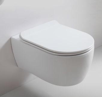 אסלה יוקרתית תלויה דגם ליברטה כולל מושב אסלה הידראולי קלונוח להרכבה ניתן לניקוי בקלות