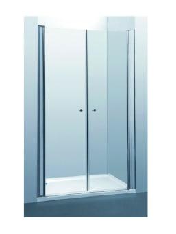 """דגם: 28A2 מקלחון חזית על ציר תאור: 2 דלתות על ציר זכוכית: 6 מ""""מ מחוסמת  צבע: ניקל מבריק סוג זכוכית: גרניט, צריבת רוחב  פתיחה: פנימה, החוצה (IN OUT ) גובה : 185 ס""""מ  מידות סטנדרת  * יש לציין בהזמנה מידות 80\80 או 90\90 * יש לציין סוג זכוכית פסים-שקוף-גרניט  (ללא תוספת תשלום)."""