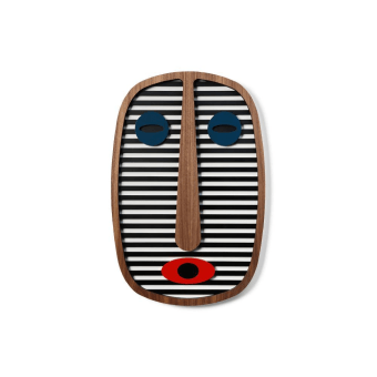 M.A.1 is part of our Modern African Collection. Inspired by the great tradition of the african masks and the inherent lack of realism in them I've created this modern take.  A handmade decorative wooden mask Inspired by colors, patterns and grids. Hang it on your office wall, living room or in the kids room, you can not go wrong with this artistic comic art. All of our masks are hand painted, unique with their own character and just like us, humans, they have some imperfections but that's what makes them perfect. Masks can be similar, but no 2 will ever be exactly alike. This mask comes in 3 sizes for you to choose from Materials:  American Walnut, Veneer, MDF   All masks are colored with quality Molotow™ Premium colors for best UV- and weather-resistance. This item is handmade, please allow 6 - 10 business days to produce before shipping. The mask comes with a hook on the back for hanging.