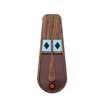 M.A.16 is part of our Modern African Collection. Inspired by the great tradition of the african masks and the inherent lack of realism in them I've created this modern take.  A handmade decorative wooden mask Inspired by colors, patterns and grids. Hang it on your office wall, living room or in the kids room, you can not go wrong with this artistic comic art.  All of our masks are hand painted, unique with their own character and just like us, humans, they have some imperfections but that's what makes them perfect.  Masks can be similar, but no 2 will ever be exactly alike.  This mask comes in 3 sizes for you to choose from Materials:  American Walnut, Veneer, MDF   All masks are colored with quality Molotow™ Premium colors for best UV- and weather-resistance. This item is handmade, please allow 6 - 10 business days to produce before shipping. The mask comes with a hook on the back for hanging.