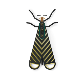 Bug #4 is part of our True Bugs  collection. The best way to deal with fear is to confront it. A handmade decorative colorful wooden bug. Hang it on your office wall, living room or in the kids room, you can not go wrong with this artistic comic art. All of our items are hand painted, unique with their own character and just like us, humans, they have some imperfections but that's what makes them perfect.  Items can be similar, but no 2 will ever be exactly alike.  Dimensions: 20.6 X 39 cm | 8.1 X 15.3 inch. Materials:  Venner, Formica   All items are colored with quality Molotow™ Premium colors for best UV- and weather-resistance. This item is handmade, please allow 6 - 10 business days to produce before shipping. The item comes with a hook on the back for hanging.