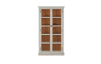 """עץ לבן. 2 דלתות + 4 מדפים.  מידות: אורך: 115 ס""""מ רוחב: 40 ס""""מ גובה: 213 ס""""מ"""