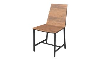 """כסא עשוי עץ אקשיה בשילוב ברזל. צבע חום בהיר.  מידות: רוחב: 45 ס""""מ עומק: 44 ס""""מ גובה: 85 ס""""מ"""