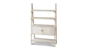 """יחידת מידוף עשויה עץ אורן ממוחזר בגוון אפור/לבן.  מידות: אורך: 106 ס""""מ רוחב: 47 ס""""מ גובה: 175 ס""""מ"""