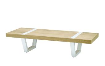 """שולחן סלון בעיצוב בצורת ספסל.  מידות: אורך: 160 ס""""מ רוחב: 62 ס""""מ גובה: 36 ס""""מ"""
