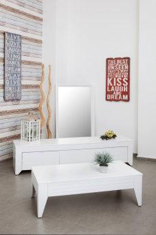 סט מזנון ושולחן תבור לבן מט   קיים במלאי בצבעים ובמידות לבחירה