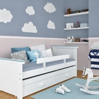 """מיטת סתיו – דגם חדש במשפחת גלמר! המיטה כולה עשויה סנדוויץ' פורמייקה וקיימת בשני צבעים – שמנת ולבן. המיטה כוללת : מיטה+ מיטה נפתחת+ 2 מגירות איחסון + 2 מזרנים 190/80/8 ס""""מ ספוג לבן + מעקה בטיחות מיטת סתיו – לחדרי הילדים המועצבים של גלמר!"""