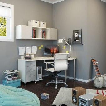 תיאור מוצר סיפריה פינתית 160/120 בתוספת כוורת קיר בשילוב 2 דלתות בצבע אפור פשתן