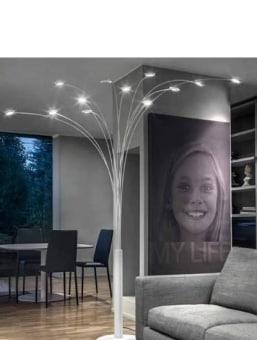 גוף תאורה ייחודי ומרשים, הנורה המומלצת לגוף התאורה היא נורת פחם, אפשרי גם נורת פחם בפורמט LED חסכונית.