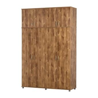ארון עליון 4 דלתות מתאים לאחסון מצעים ושמיכות יכול לשמש כיחידה נפרדת במקומות נמוכים כמו עליות גג ניתן להוסיף מדפים .