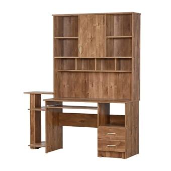 שולחן מחשב מהודר עם כוננית לספרים וקלסרים עם מגירות ועם מדף נשלף למקלדת טוב לחדרי ילדים ונוער