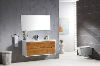 מפרט  ארון אמבטיה מעוצב 2 מגירות סופר איכותי גוף סנדויץ צבע אפוקסי- צביעת תנור חזית עץ מלא פרזול יוקרתי -סגירה שקיטה