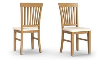 כיסא דגם ינאי    אלון, מושב דמוי עור קרם    לא ניתן לשינוי   מידות      46/52/95