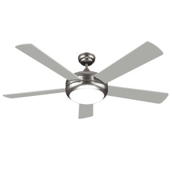 """מאוורר תקרה """"52 לבן 5 כנפיים + שלט דגם ATL-9052 - צבע כסוף        מאוורר תקרה בטיחותי ושקט במיוחד הכולל גופי תאורה      ניתן להרכבה כשההפעלה תהיה על פי בחירה:       באמצעות מפסק קיר (כלול במכשיר) או על ידי שלט רחוק (כלול במכשיר) המאפשר פיקוד על כלל פעולות"""