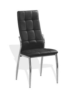 """כיסא אורח דגם 68 שילוב גב ומושב מרופדים ורגל ניקל.     נוחות מירבית ואחזקה קלה לחיי מוצר ארוכים ו גם נוחות מושלמת לישיבה נכונה יציבה לגב.     שלד הכיסא ממתכת עמידה ואיכותית וגם,הדמוי עור עמיד ואיכותי.  מידות כסא  גובה 100 ס""""מ  רוחב 40 ס""""מ  עומק מושב 39 ס""""מ  גובה מעשנת 52 ס""""מ"""