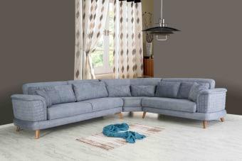 """מערכת ישבה פינתית,הניתנת להתאמה לחדרים שונים. ניתן לקבלה כאשר הפינה בצד ימין או בצד שמאל.     סגנון – קו עכשווי עם השפעה מודרנית.     חומרים –     מבנה- עץ לבן מלא.     מילוי- ספוג אלסטי לנוחות ישיבה  ספה תלת מושבית ניפתחת למיטה זוגית  מידות  אורך: 325 ס""""מ  רוחב: 265 ס""""מ  גובה: 88 ס""""מ  הובלה והרכבה 499 שייח  זמן הספקה בין 45-60 יום"""
