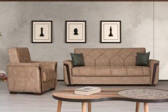 """סלון מעוצב בהרכב 3+2 .הספה של תלת מושבים נפתחת למיטה דגם MELODY ,ניתן להוסיף לספה תלת מושבים ודו מושבים וגם כורסא מעוצבת ולקבל מערכת ישיבה מרשימה.ספה תלת מושבים כוללת מיטה ניפתחת .  ניתן להזמין כל יחידה בניפרד  מחיר של ספה תלת מושבים 1690 שייח  מחיר של ספה דו מושבים 1330 שייח  מחיר של כורסא 1090 שייח  מידות  אורך: 230 ס""""מ  רוחב: 75 ס""""מ  גובה: 90 ס""""מ  מקום לשינה: 190/117 ס""""מ  מידות כורסא:  אורך: 100 ס""""מ  רוחב: 75 ס""""מ  גובה: 90 ס""""מ  ספה של דו מושבים -170/75/90  זמן הספקה בין 45-60 יום  הובלה והרכבה של ספה 250 שייח  הובלה והרכבה של סט 399 שייח"""