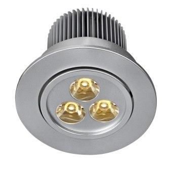 שקוע תקרה ניתן לדימור   נורה  LED  מתח: 220V  דרגות הגנה: IP21  silver