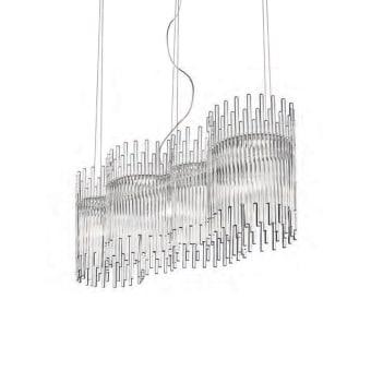 גוף תאורה תלוי מבית VISTOSI עשוי מצינורות אטומים מניפוח זכוכית בגדלים שונים   נורה  LED  מתח: 220V  דרגות הגנה: IP20  חומר: זכוכית