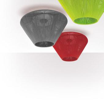צמוד תקרה מהקולקציה החדשה של Eltorrent, גוף תאורה KOORD   נורה  LED  מתח: IP20  black  red  orange  blue  green  silver  white
