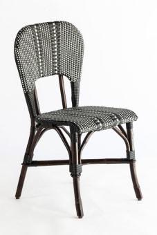 כסא קלוע דגם ANNA DC שלד דמוי במבוק