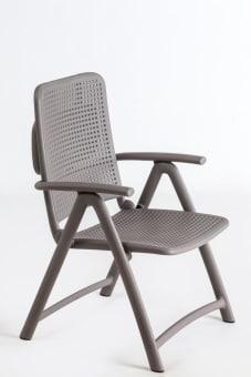 כסא דגם אקווה מרינה פלסטיק  משענת ראש מתקפלת  מתאים לשימוש חוץ