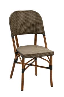 פריז 17 כסא , AL-3517 שלד דמוי במבוק , קליעה לואי ויטון חום שחור  מגיע בקליעות וצבעים נוספים