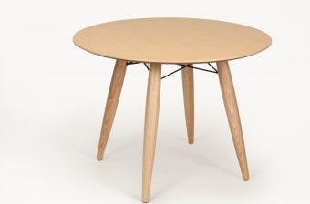 שולחן עגול דגם סווניר, פורניר טבעי  קוטר 110