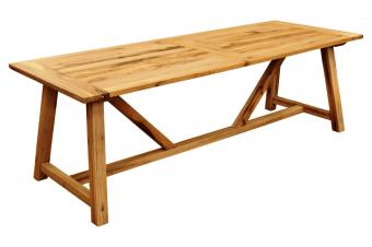 שולחן סנט ג'רמיין 300*110*78 עץ אלון חצי פראי צבע בסנו עתיק  קיים בגדלים שונים