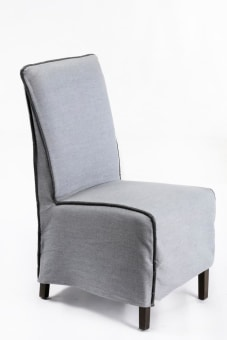 כסא דגם ארובה SC-2309L מרופד אפור כחול  מבצע עד גמר המלאי