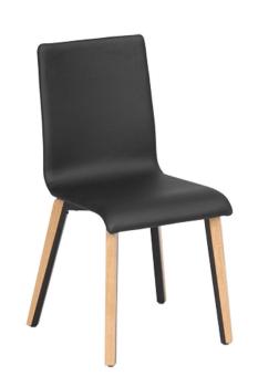 כסא טובי היבריד, שלד טבעי + ברזל שחור, מושב + גב מרופד דמוי עור  מבצע עד גמר המלאי
