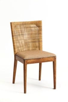 כסא דגם וירג'ינס רגלי עץ  גב קלוע + מושב מרופד