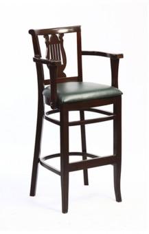 אתנה כסא בר ידיות , אגוז מרופד ירוק  מגיע בגוונים שונים