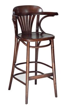 165 כסא בר מניפה עם ידיות מגיע במגוון רחב של צבעי עץ