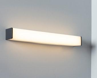 צמוד קיר מלבני לשימוש תאורת פנים. מקור אור 22 W לד. מיוצר מאלומיניום + אקרילי. זמין בצבע ניקל מט .