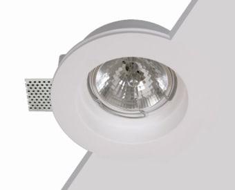 לשימוש תאורת פנים. מקור אור 1X100W QR111 G53.   מיוצר מגבס.   זמין בצבע לבן.