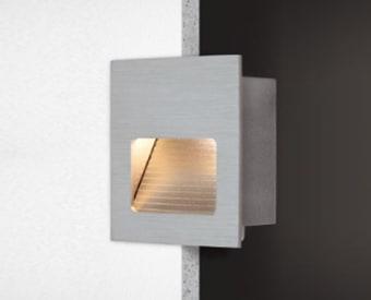 שקוע קיר לשימוש תאורת פנים. מקור אור 1X3W לד Cree.   מיוצר מאלומיניום.   זמין בצבע לבן.